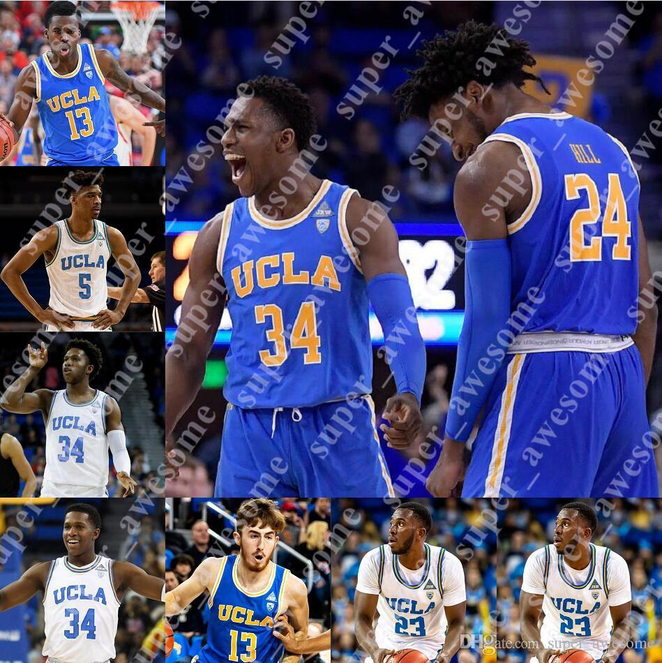 UCLA Bruins Basketball Maglia Jake Kyman Dodson Russell Stong Isaac Wulff vacanze 2 Ball 0 Westbrook 42 Amore 33 Abdul Jabbar
