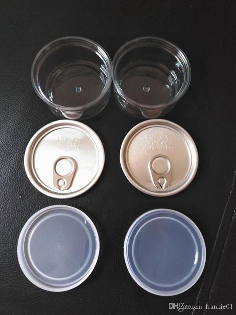 vape 100 ml Kunststoff-Vorratsbehälter Dosen transparant Lebensmittelqualität Blechdose herb Aufreißdeckel Ring Zuglasche leer Fisch Tunfisch Flaschen trocknen