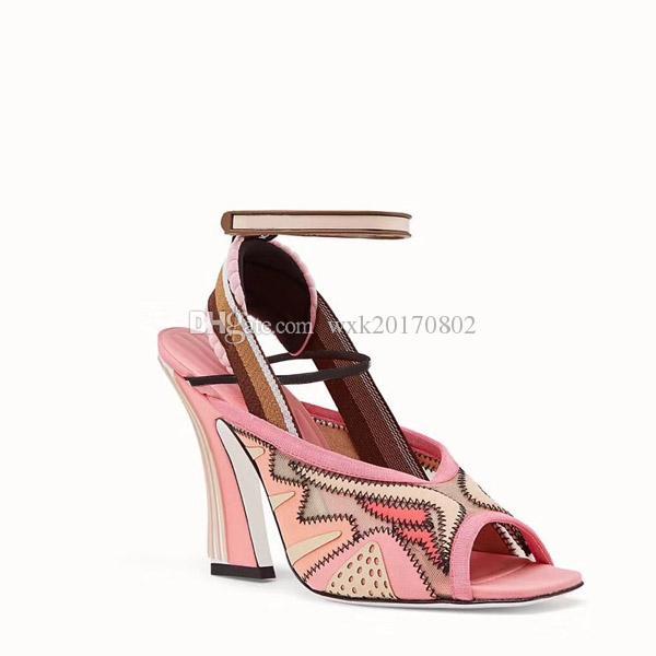 Novo estilo europeu estilo clássico homens e mulheres unisex sandálias sapatos de moda vamp san sólido cinto de metal fivela de conforto decoração 35-40