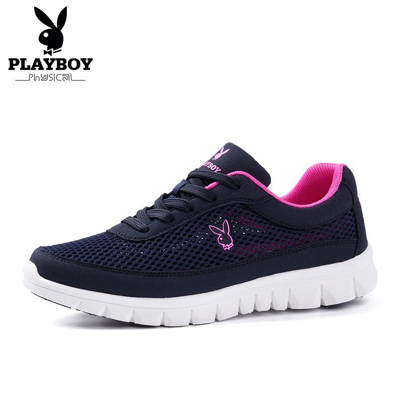 PLAYBOY New as sapatas de moda casual 2018 Primavera / Outono Mulheres é confortável Esporte respirável Flats Plus Size 35-40