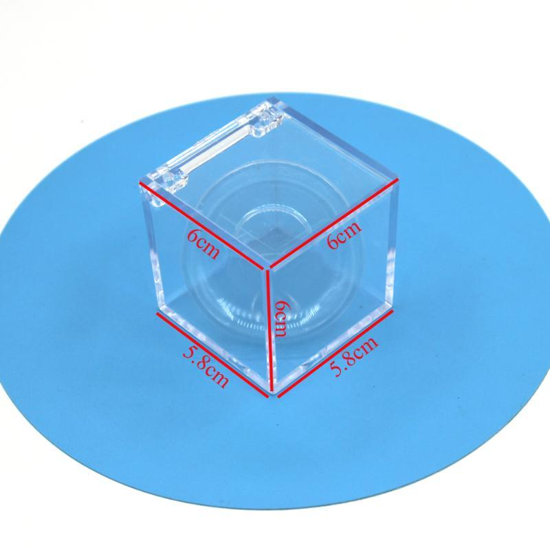 Damepapil Clear Cube Box Packaging For 25mm Lashes 2020 New Design Empty Faux Mink 3D Full Strip Lash Boxes Packaging Bulk