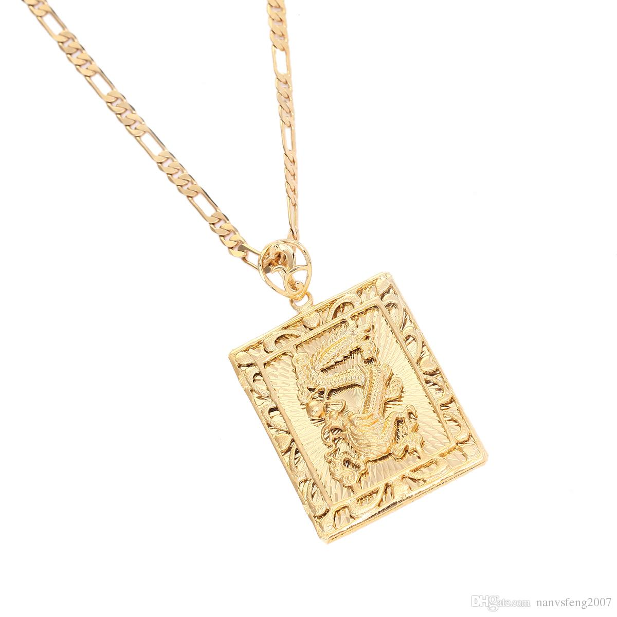 collier medaillon or homme