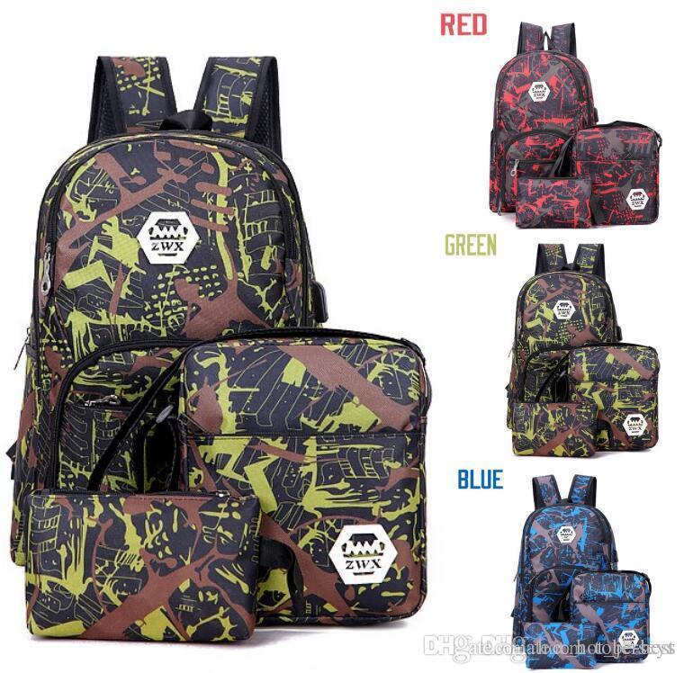 Лучший открытый камуфляж путешествия рюкзак компьютерная сумка оксфорд тормозной цепь средняя школа студент сумка много цветов