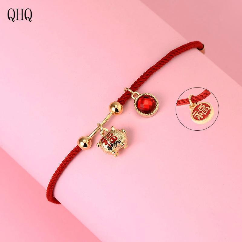 QHQbracelets braccialetti charms fascino personalizzato amicizia ragazze coppie regali accessori migliori donne amico gioielli bohemien