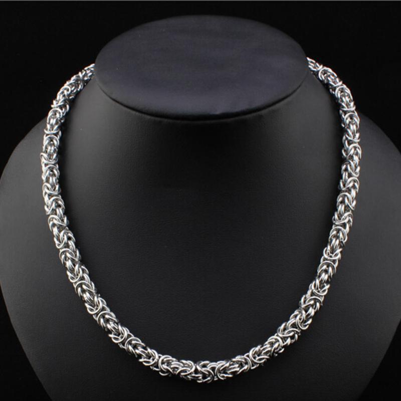 Argent caractère Collier Rond solide en acier inoxydable poli lourd Chaînes de bijoux de mode pour les hommes et les femmes Cadeaux 2020