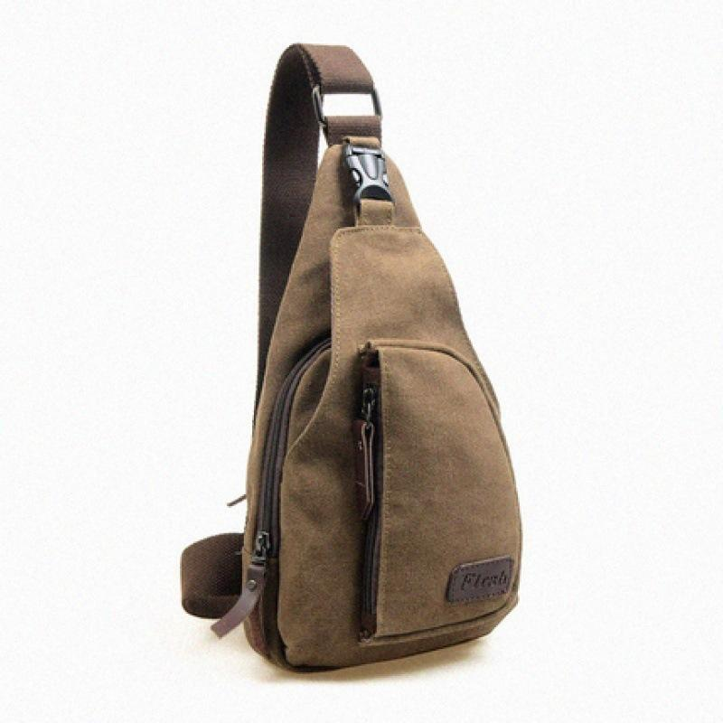Free2019 Trend Leisure Time Canvas Male Packet Man Oblique Satchel Single Shoulder Package The Chest Tide A