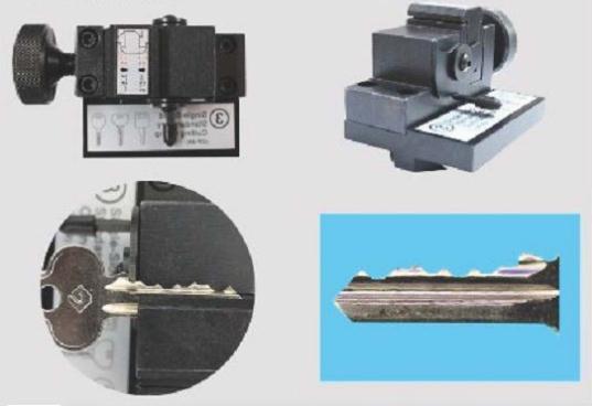 House Key Cutting Machine Clamp For E9 /X6 /V8 /A9 /A7 /A5 Key Cutting Machine Single -Sided Standard Car Clamp Cut Single