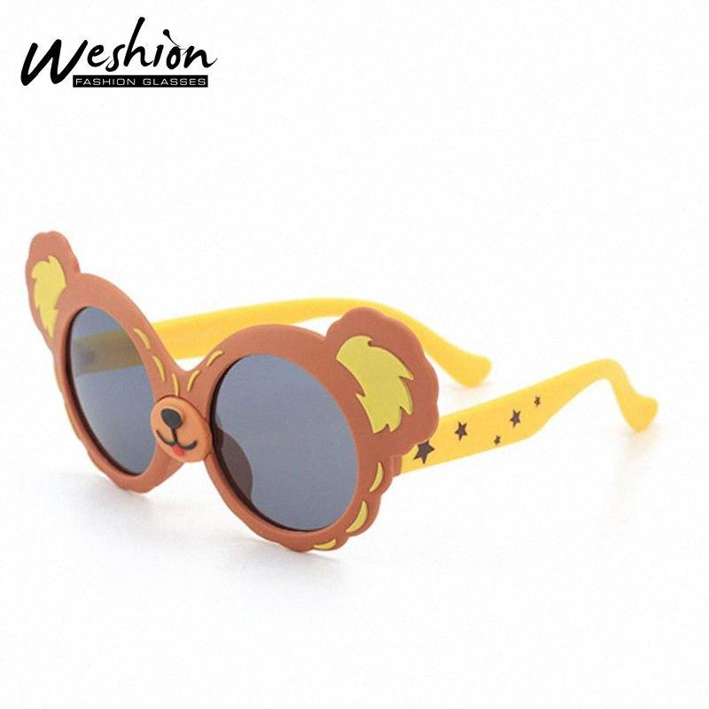 Juniors Sunglasses Kids Polarized Youth Boy Girls Children Animal Satrs Sun Glasses 4-12 Flexible Bear Eyeglasses UV400 2020 NjlE#
