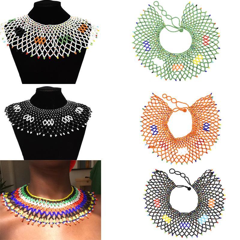 민족 부족 턱 받이 목걸이 목걸이 아프리카 다채로운 페르시 술 목걸이 쵸커 목걸이 이집트 성명서 맥시 할로윈 쥬얼리