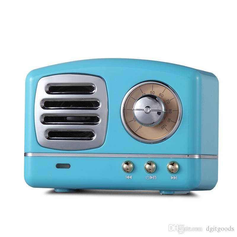 HM11 Mini Bluetooth Speakers Portable wireless Retro Radio Vintage Nostalgic heavy Bass 3D Stereo Surround HiFi TF USB FM AUX