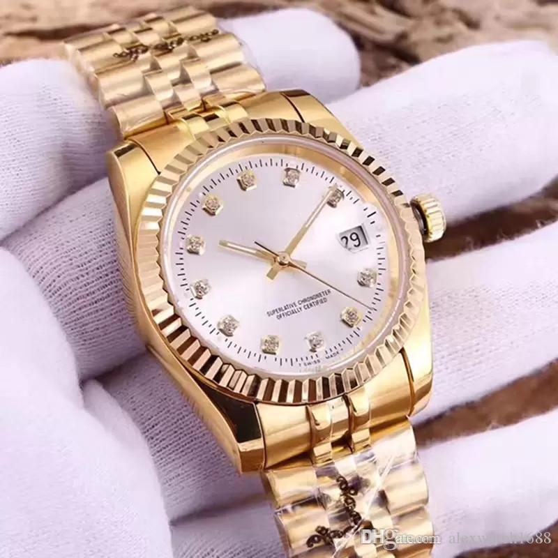 망 시계 다이아몬드 날짜 자동 남성 시계 기계적 아이스 밖으로 손목 시계 유명 브랜드 디자이너 그냥 숙녀 Montre de luxe 판매