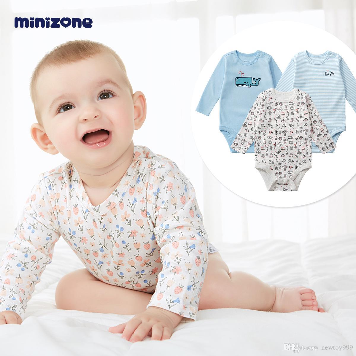 Kinder Overall Neugeborenes Baby Vollmond Geschenk Baby Kleidung 3 Stück Herbst Wear Boy und Girl 820