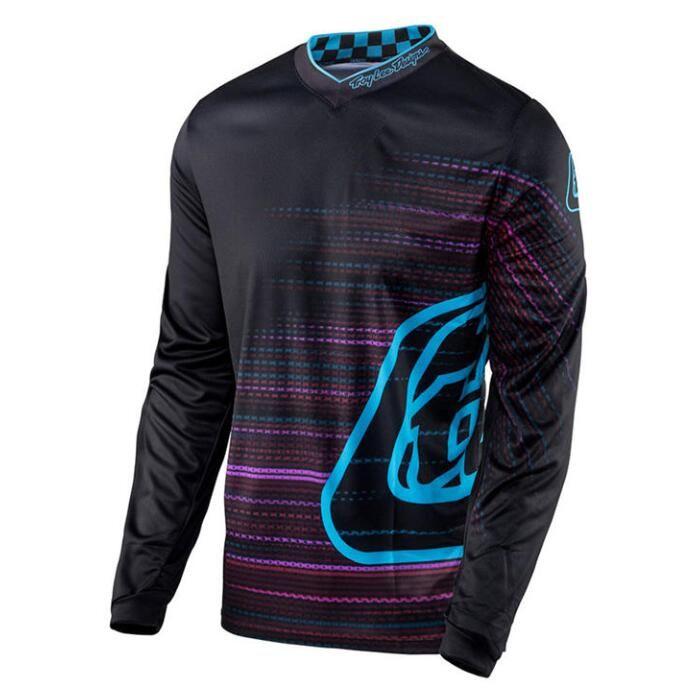 TLD esplosiva di fondo camicia Mountain bike T-shirt a maniche lunghe Jersey in bicicletta vestito lungo l'umidità giacca traspirante ultra-light