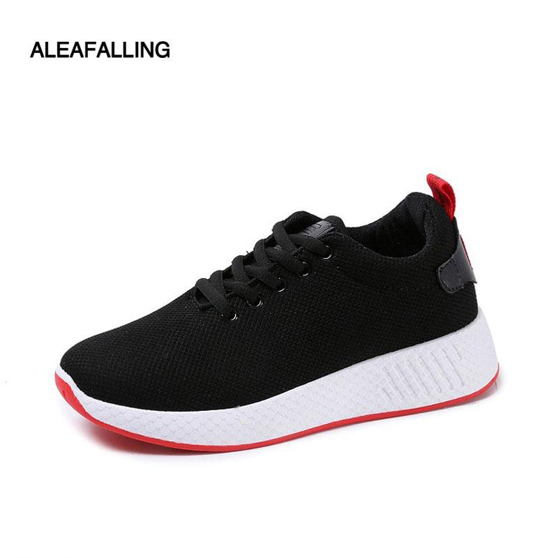 Aleafalling 2018 New Arrival Air Mesh Mulheres de Sapatos respirável macio antiderrapante inferior Mulheres Sneaker Outdoor Zapatos Mujer FL01