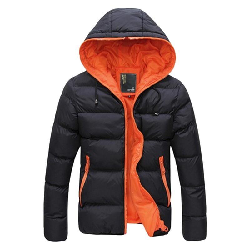 Laamei 2018 패션 겨울 남성 자켓 웜 코트 자켓 남성 Parkas 자켓 남성 코트 지퍼 스탠드 칼라 자켓 플러스 사이즈 Z30