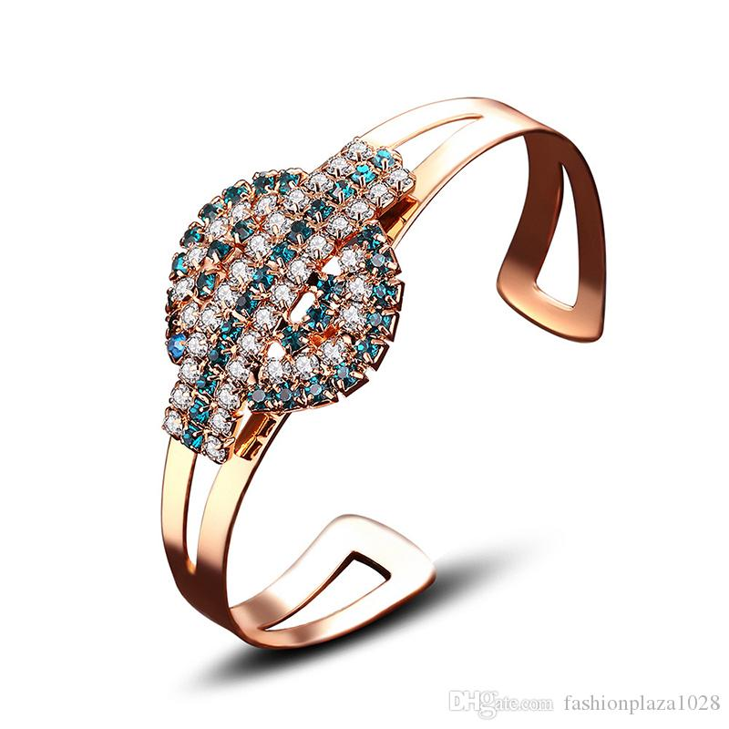 Classic Jewelry Women Bracelets Bangles 18k Gold Adjustable Colorful Color Zircon Creative For Womens Jewerlty