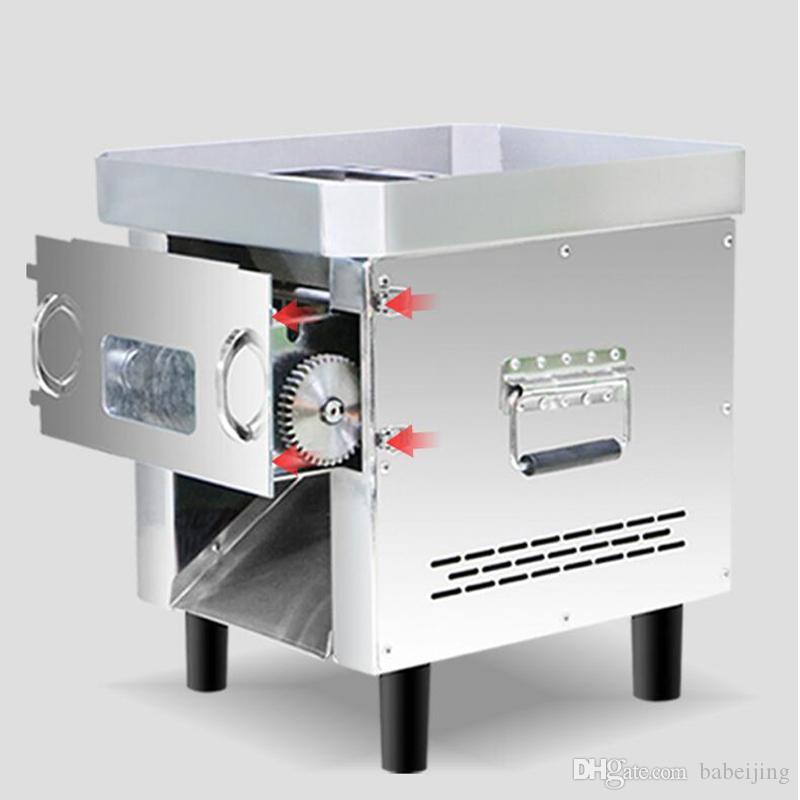 850W Pull-out type de ménage de trancheuse groupe de couteaux déchiqueté coupées en dés machine coupe de viande en acier inoxydable commercial machine à viande hachée