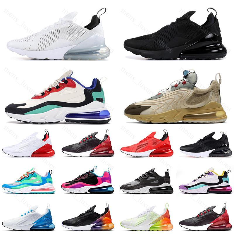 react 270 продажи тройной белый черный мужская женская кроссовки регентство фиолетовый быть истинным темно-синий CNY свет кости женщины спортивные кроссовки обувь размер
