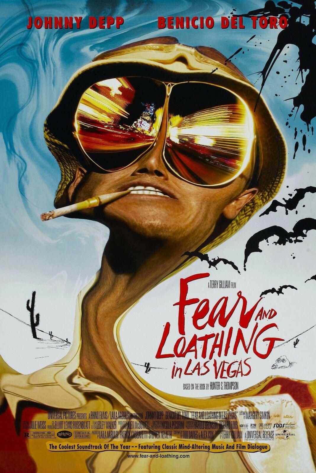 Страх и ненависть в Лас-Вегасе 1998 фильм Искусство Подарки Шелк Печать плаката