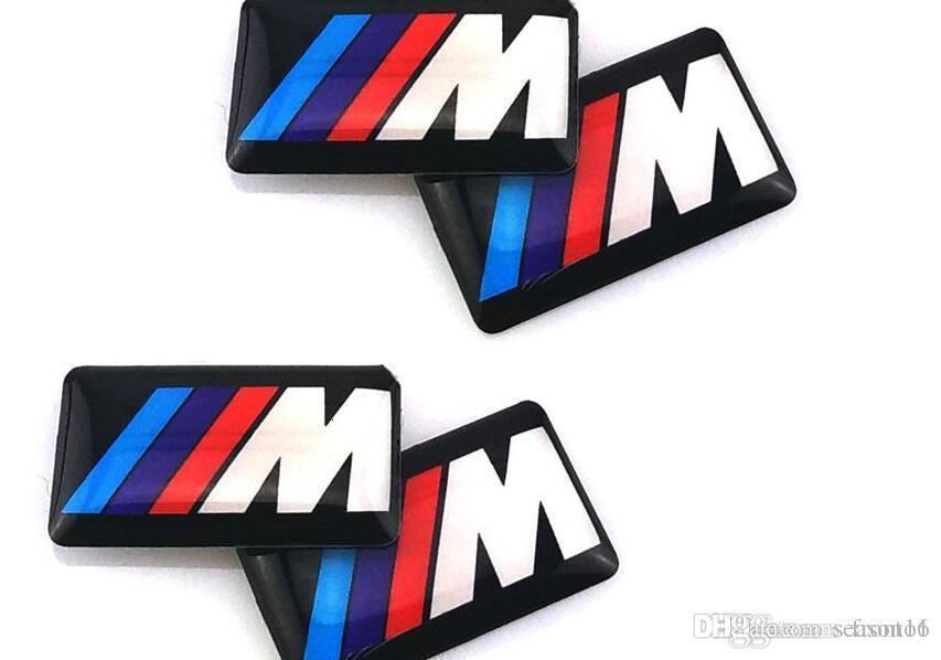 M5 M6 F32 E53 E90 F10 X3 epoxy car logo Plastic Drop Sticker Car Styling 4pcs / Lot