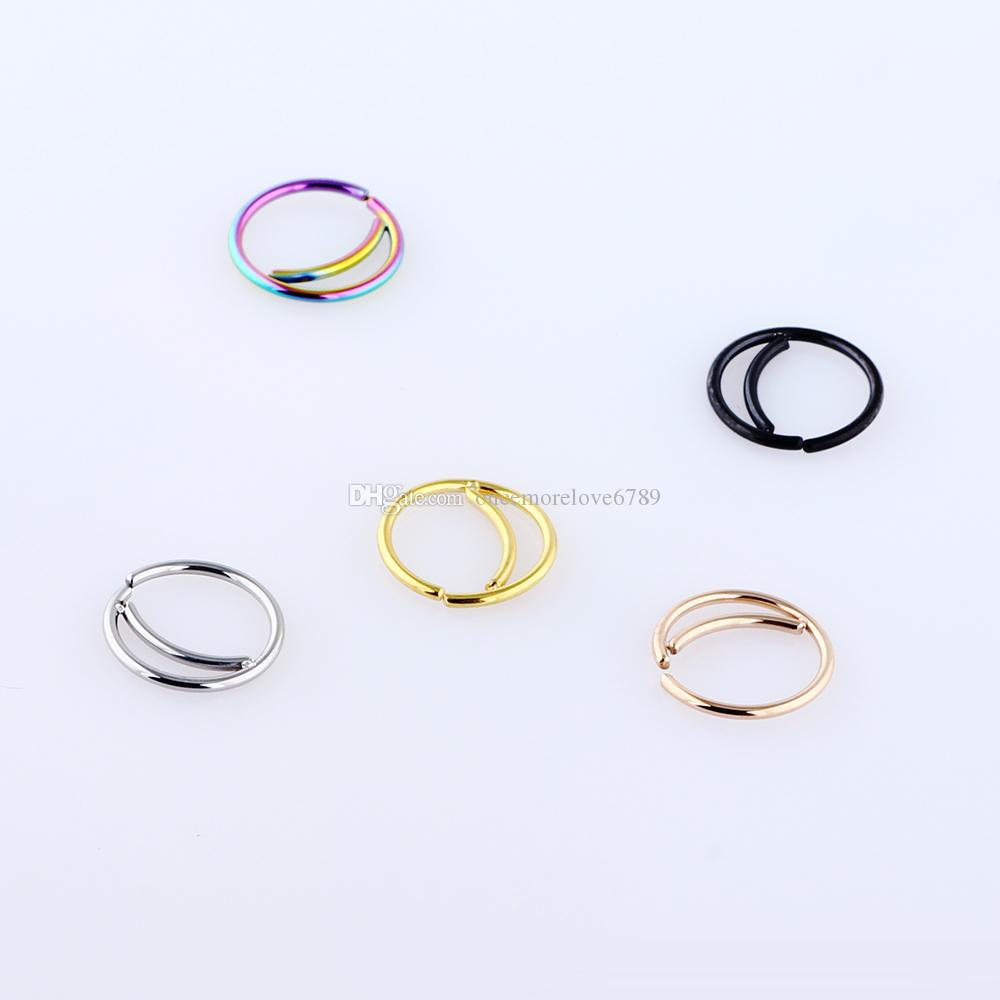 2020 Stainless Steel Nose Ring Hoop Septum Rings Nose Body Jewelry