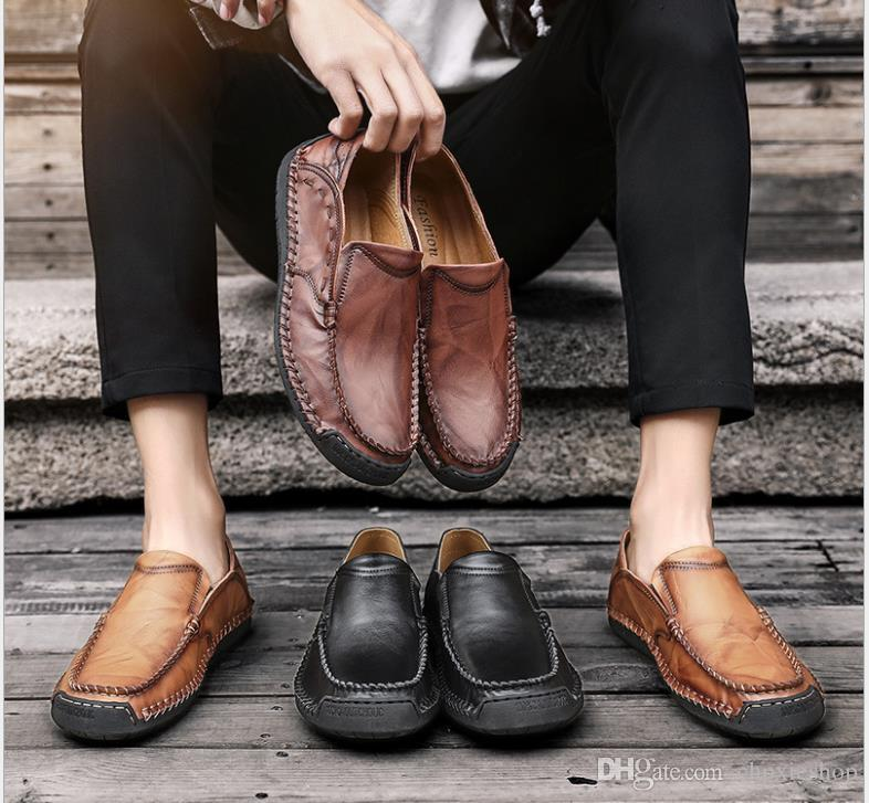 Лето новой мода повседневная обувь обувь одного мужской обувь