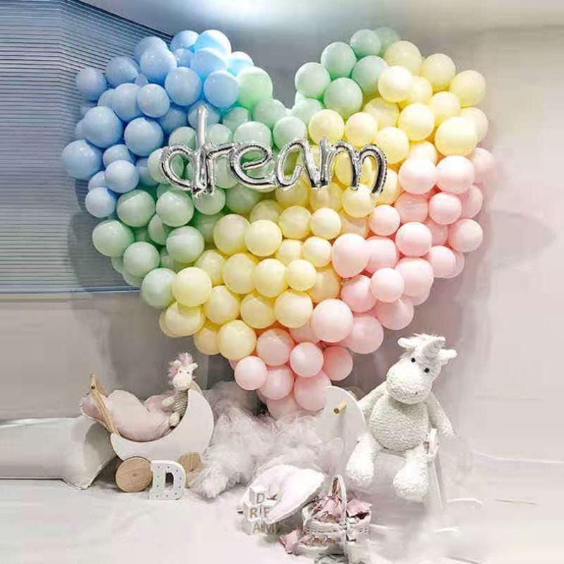 5inch Double-Decker Candy Confile Macaron Latex Ballon Ballon Happy Birthday Party Helium Ballon