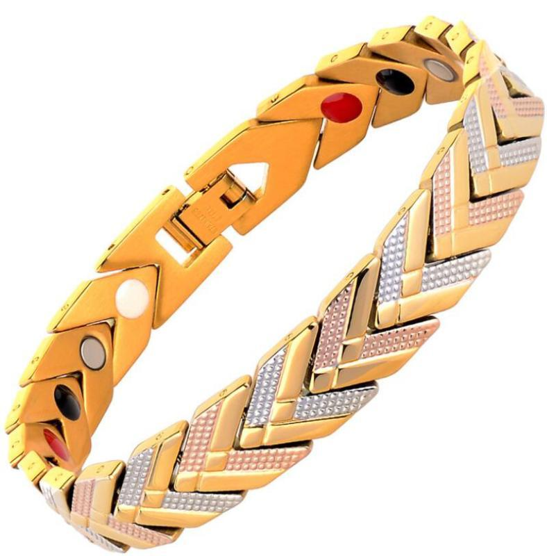 Magnetic Bracelets Bangle for Women 4 in 1 Health Care Bio Energy Germanium Healing Female Jewelry for Arthritis