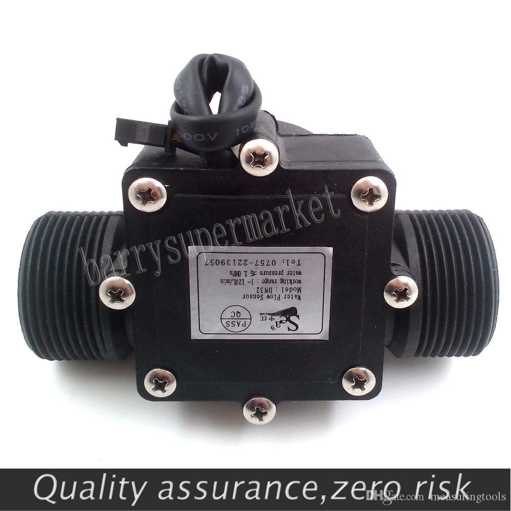 "Water Flow meter flowmeter Hall Sensor Switch counter fuel gauge indicator caudalimetro flow device DN32 G1-1/4"" 1.25 1-120L/min"