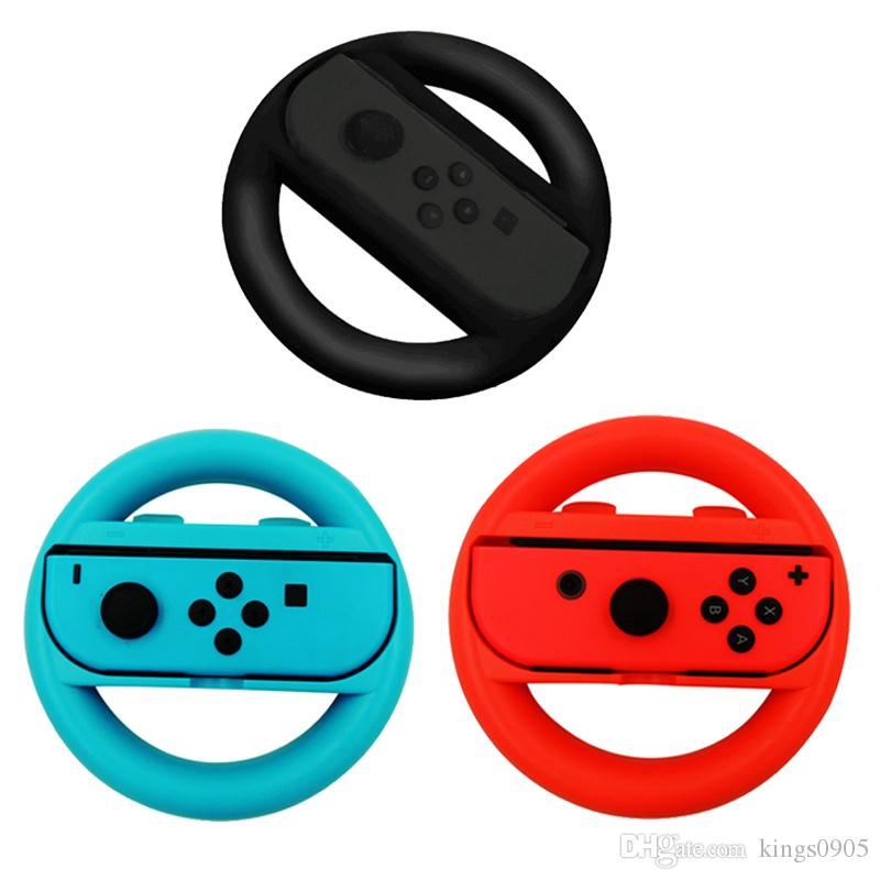 Hot sale Steering Wheel For Nintend Switch Game Remote Controller Joy-Con For NS Wheel Roda Remote Control Colorful Game Accessory free ship