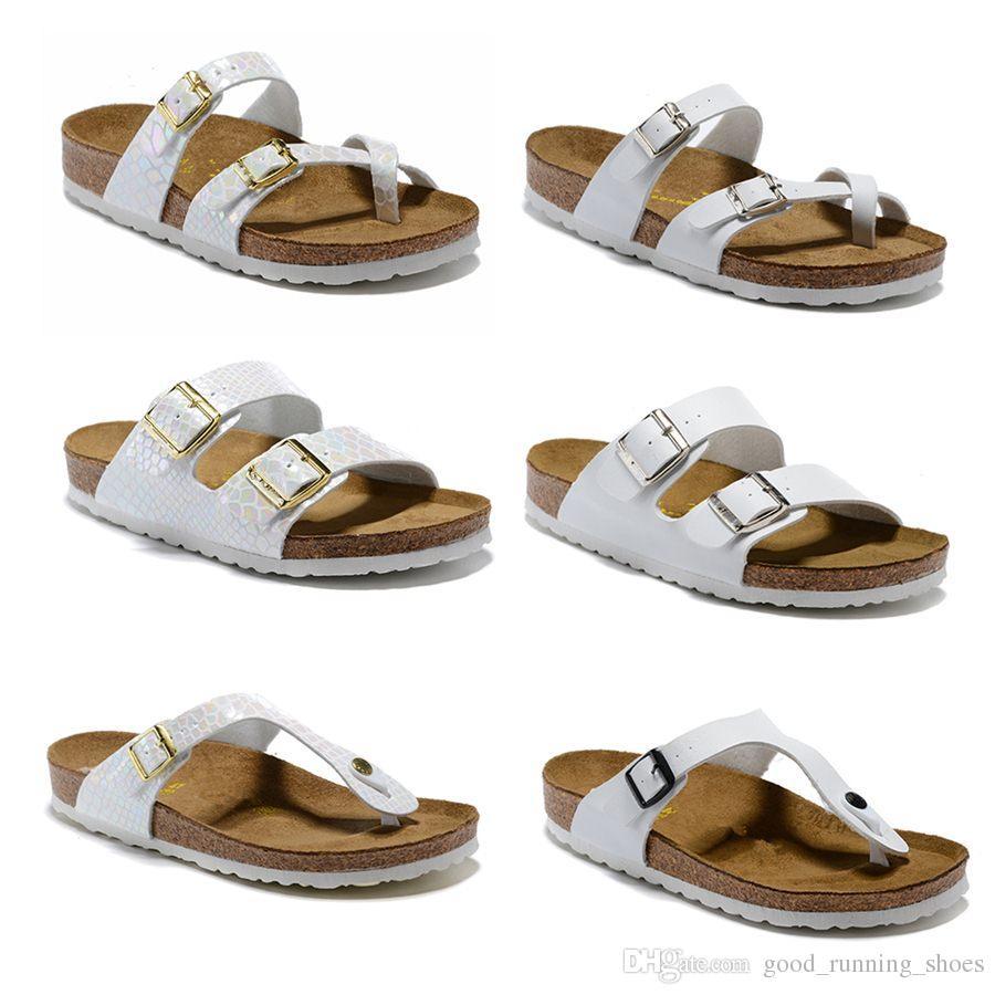 Femmes d'été en gros plage de liège pantoufles Casual Sandals Paillettes Diapositives Double Boucle Sabots Femmes Slip on Flip Flops Flats Shoe34-47