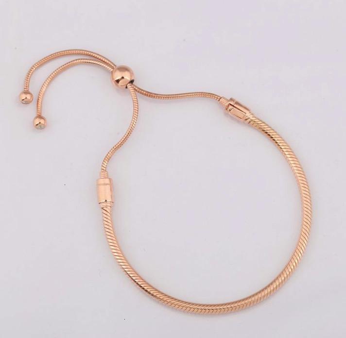 Bileklik Fit Kadınlar Boncuk Charm Diy Avrupa Takı kristal bilezik takılar için toka bilezik Sürme Rose Gold