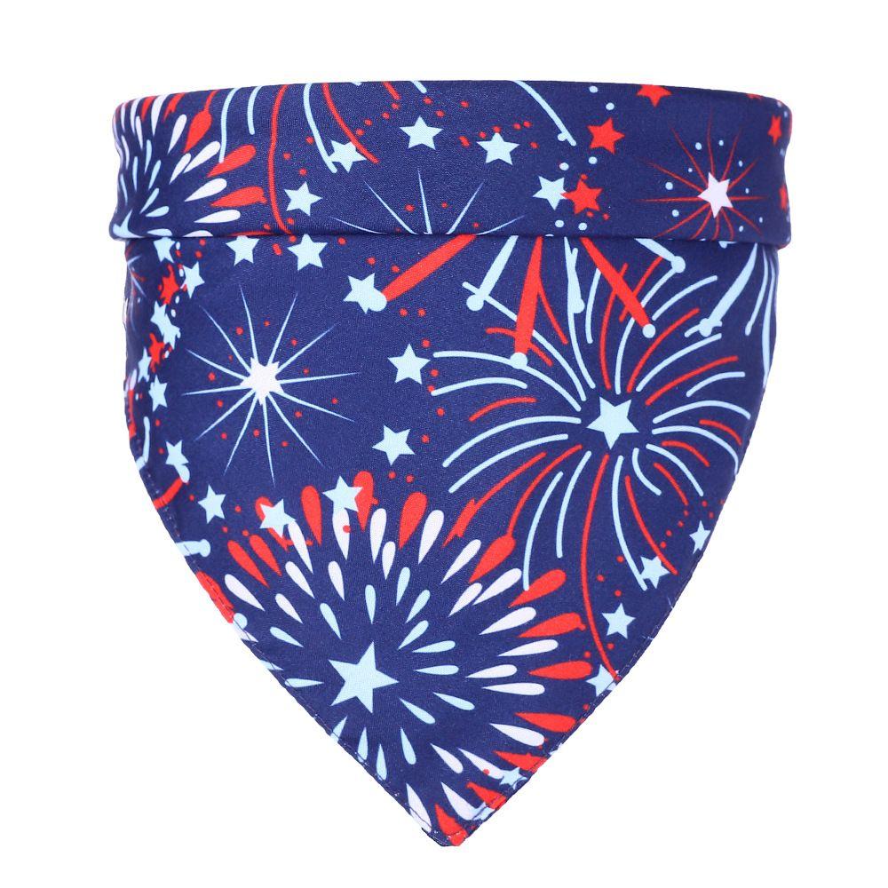Yeni popüler hayvan tükürük eşarp Amerikan bayrağı üçgen kedi köpek bağımsız güzel eşarp özel hayvan eşarp