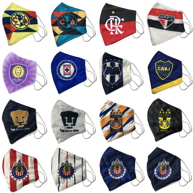 Flamenco Fußball Maske Baumwolle Brasilien Einwegmasken können in der Mitte umweltfreundlich Masque modisch platziert werden