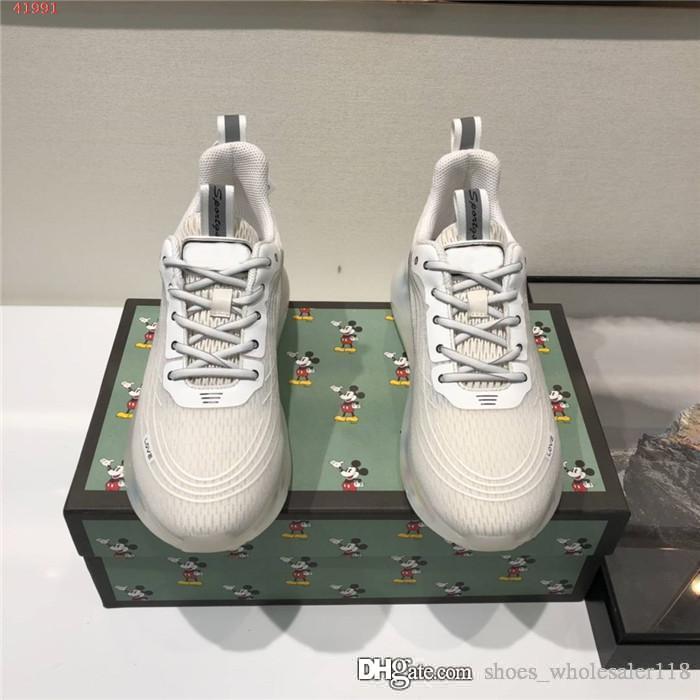 Erkek moda yüksek üst kurul ayakkabı, kristal hava yastığı baba ayakkabı, eğilim artışı kalın tek spor kutu boyutu 38-44 ile rahat ayakkabılar