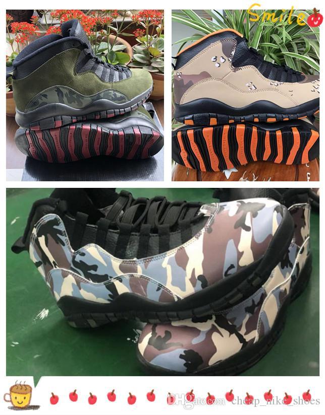 J10 Desert Camo Woodland chaussures de basket-ball hommes gris moyen Olive rotin noir dépoussiérés Clay Armée Cinder sport baskets entraîneur des hommes