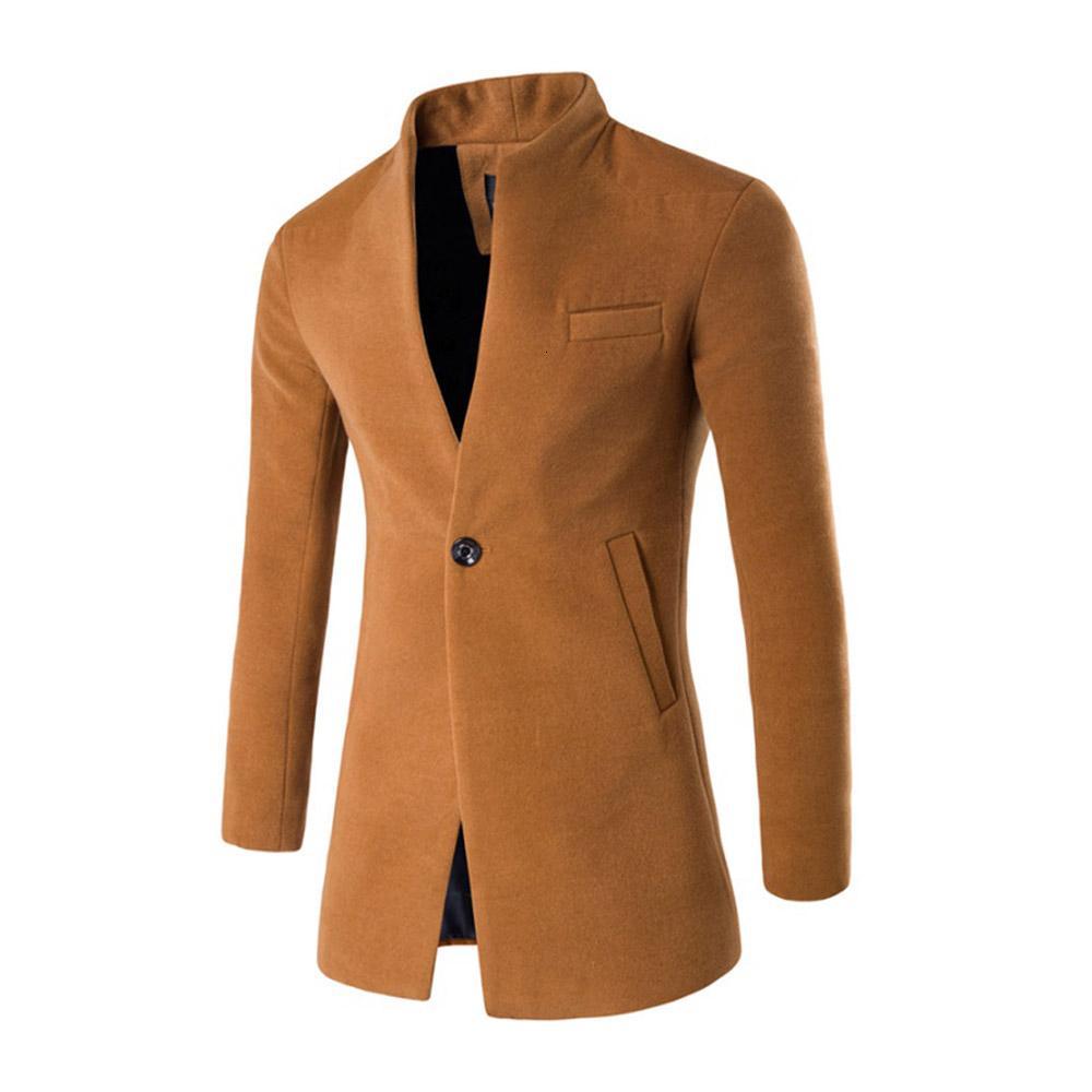 ZOGAA 2018 Otoño caliente y los hombres del invierno de la chaqueta de lana capa de la chaqueta rompevientos abrigo de negocios Turn-down Collar MX191118 de alta calidad