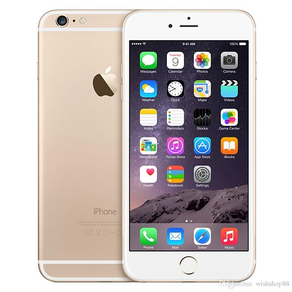 Original iPhone 6 Unlocked Cell Phone 4.7 inch 16GB/64GB/128GB A8 4G FDD Support Fingerprint Dual Core WIFI GPS Refurbished Phone