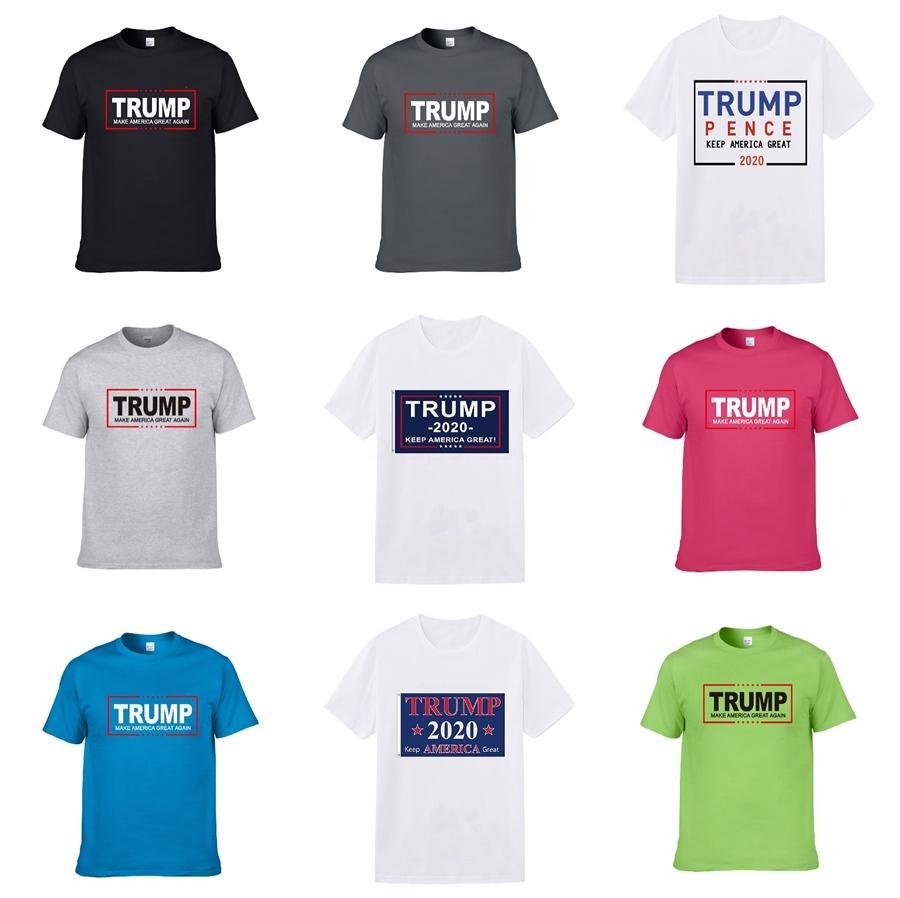 2020 Mens Verão Tees Plus Size Curto Luxo luva T Leite Impresso Cotton Trump T-shirt Designer 3D vestuário S-Xxxl A5 # 370