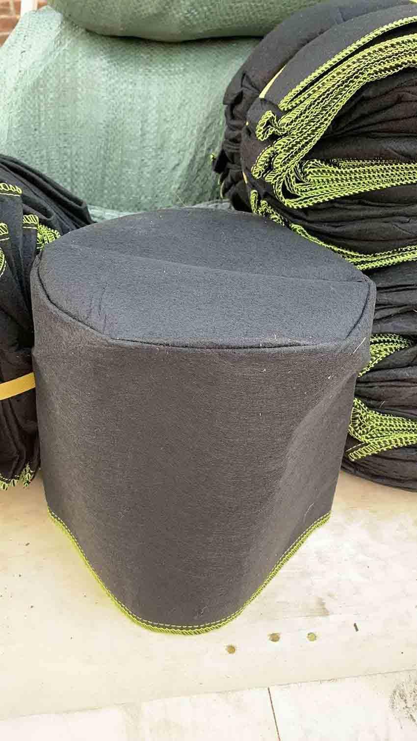 Smart épaissie Nonwoven les sacs de culture 15 Gallon Heavy Duty Tissu Pots avec Aeration poignée épaissie tissu Pots végétaux de culture de plantation Sac