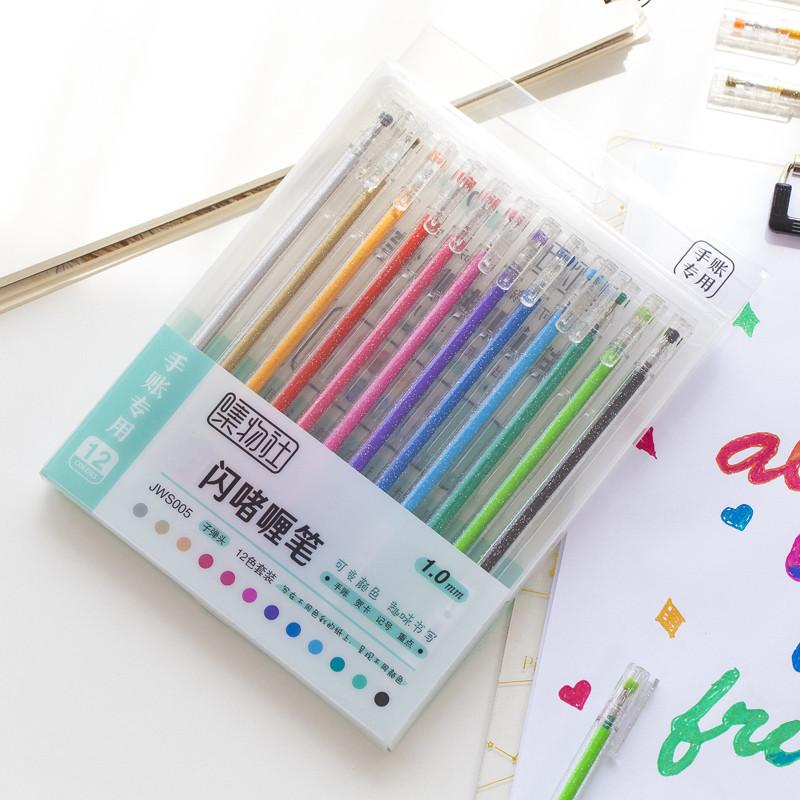 3 set/Lot Flash color drawing pen 1.0mm liner highlighter painting for scrapbooking diary book Art supplies School kid gift F894 T200416