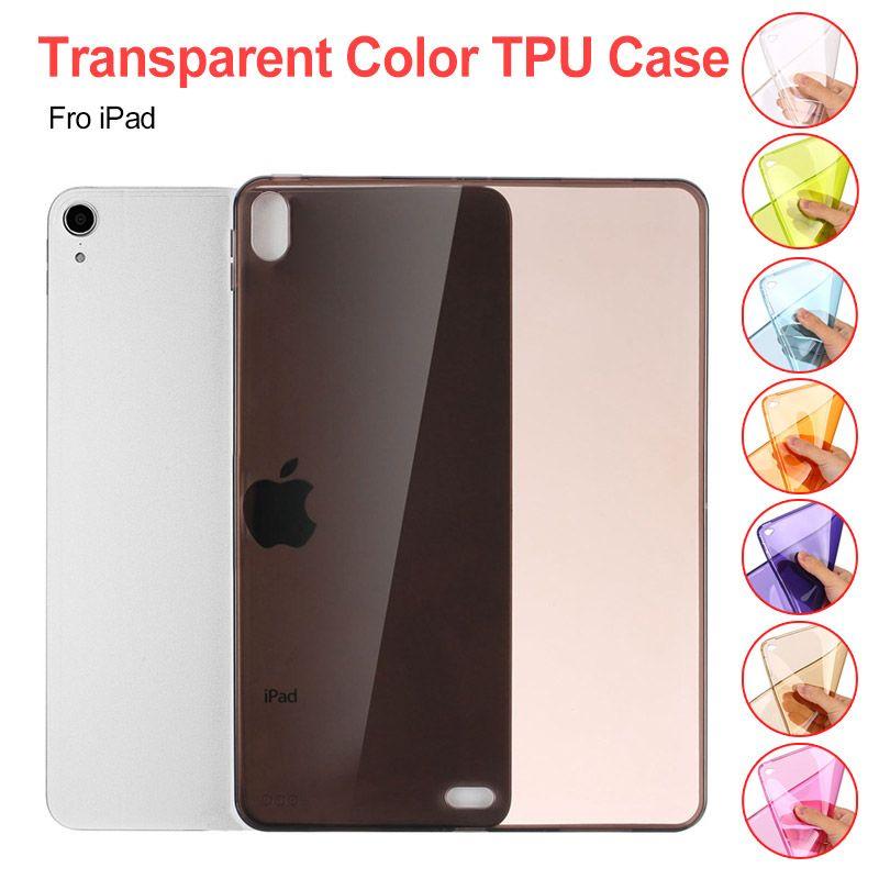 Мягкий чехол TPU для iPad Pro 12,9 дюйма 2017, 2018 Ультратонкий тонкий силиконовый красочный прозрачный прозрачный защитный оболочкой крышка кожи
