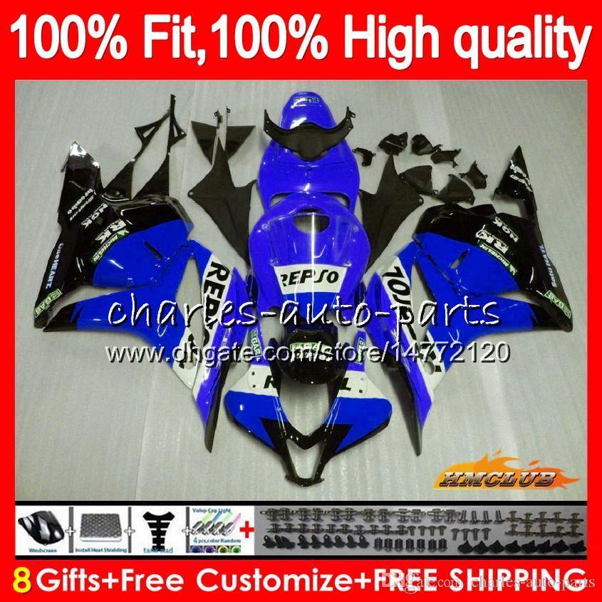 Инъекции OEM для HONDA Repsol синего CBR 600RR 600F5 600cc F5 09 10 11 12 74HC.140 CBR 600 RR CBR600 RR CBR600RR 2009 2010 2011 2012 обтекатель