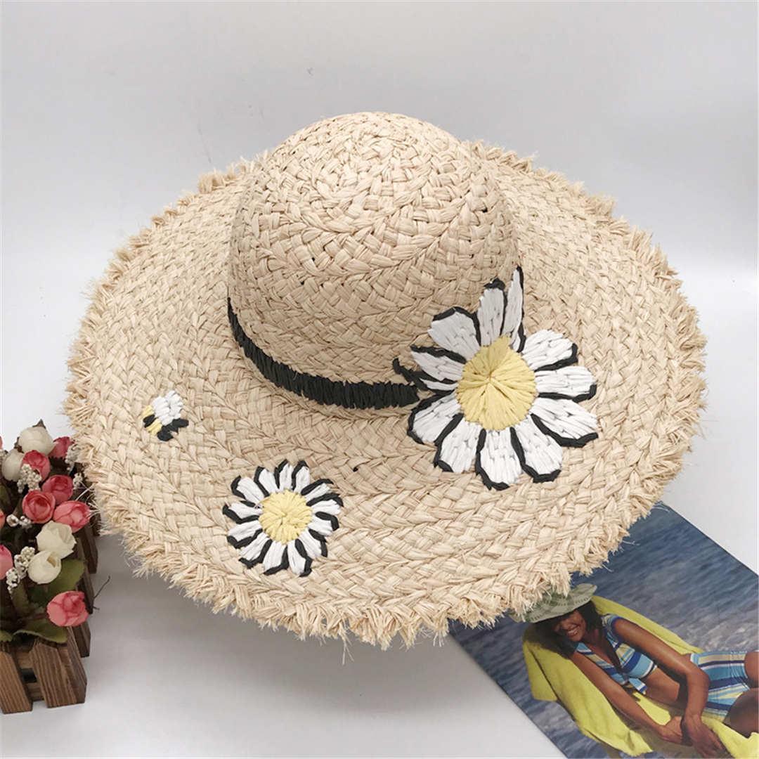 Été Design Plage Cap vente chaude Street Fashion Chapeaux Bonnet pour femme Casquettes ajustables Femmes Daisy Hat 2 modèles très qualité