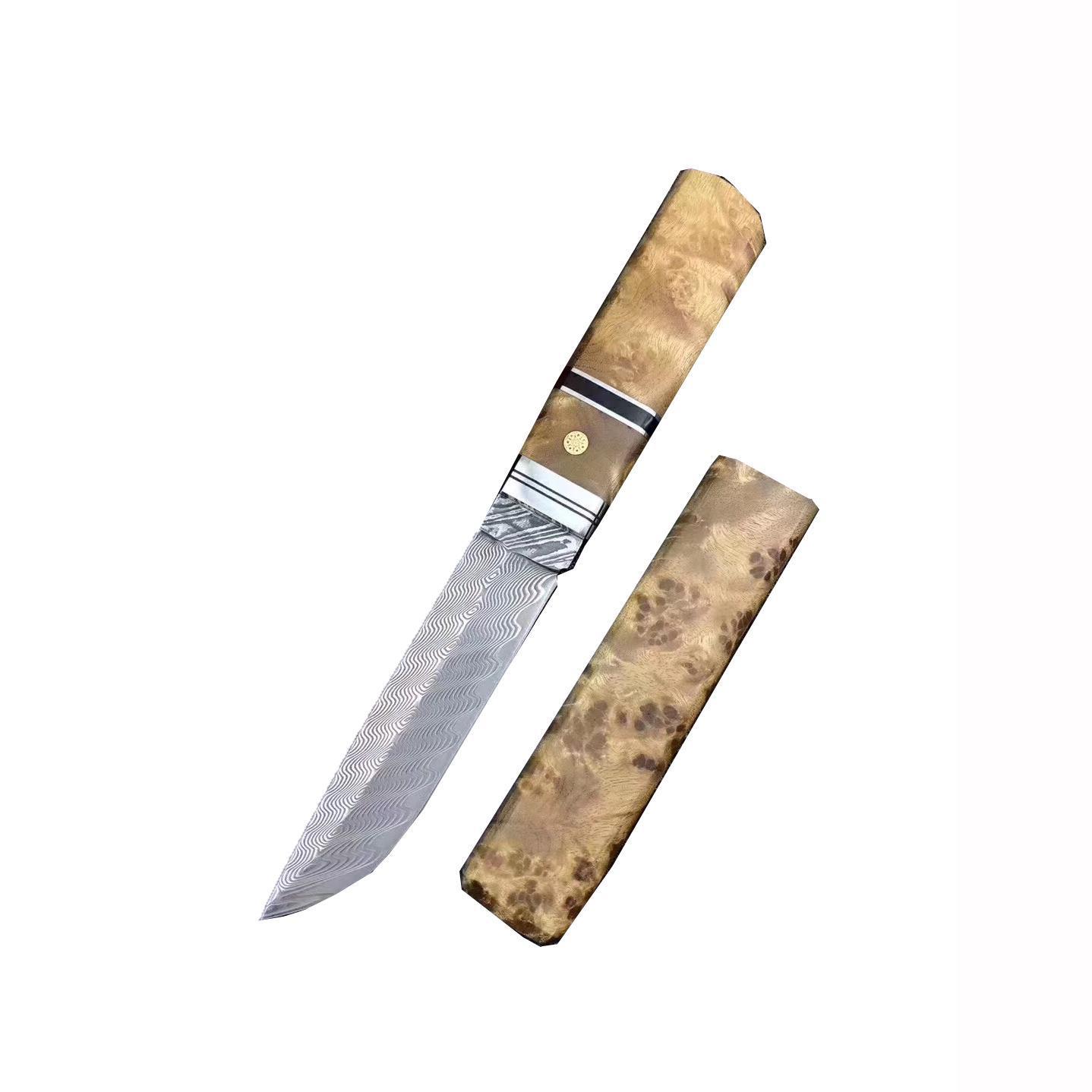 Sk-13 El yapımı VG10 Şam Küçük Girlfriend Beyaz Gölge Ahşap Kol Best Hediyelik ile Düz Bıçak El Sanatları Koleksiyonu Bıçak
