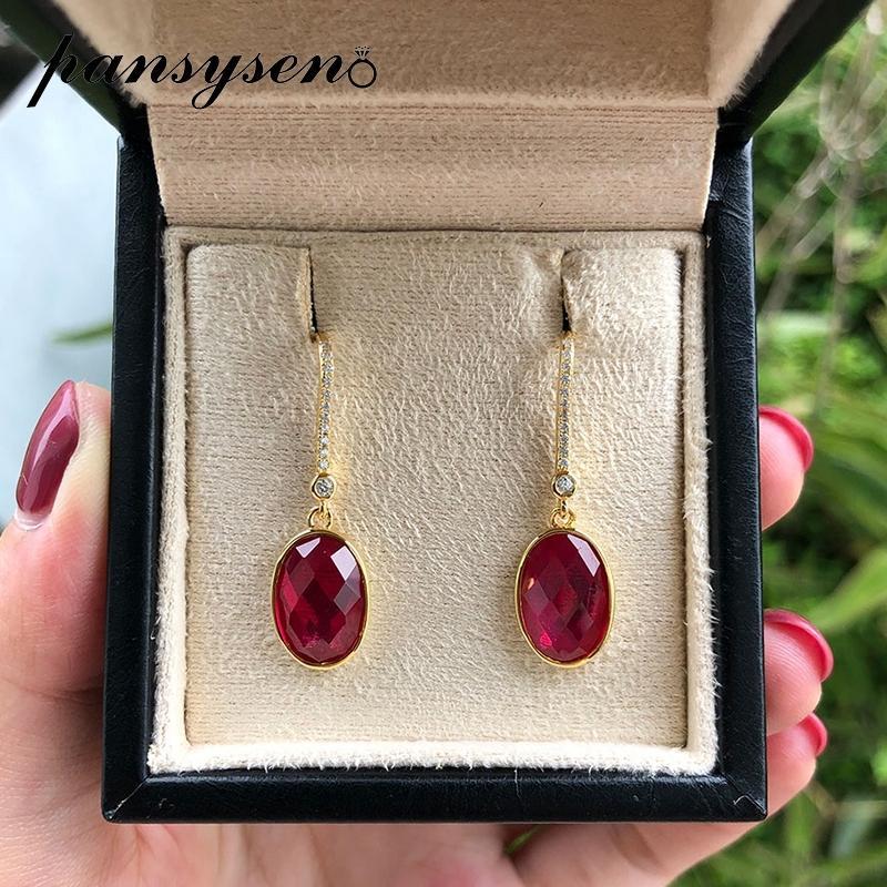 Amazing Ruby Top Quality Gemstone Earring,925-Sterling Silver Earring,Wedding Earring,Antique Silver Earring,Anniversary Gift Earring