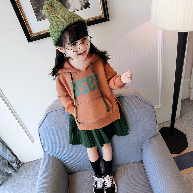 niños vestido de niña de lana otoño vestidos de princesa para los niños espesan hoodies de las muchachas ropa de basura sudaderas