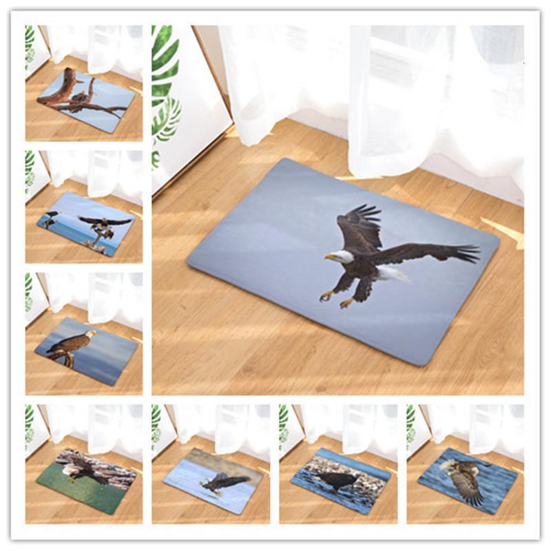 Eagle Printing Land Mat Rug Home Bedroom Doormat Shower Room Kitchen Toilet Strip Water Uptake Non-slip Floor Carpet