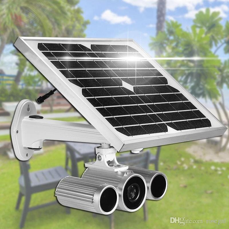 Wanscam HW0029-6 Soporte 3G / 4G Tarjeta Sim Starlight Visión nocturna Onvif Dos baterías 1080P Cámara IP con energía solar con tarjeta de 16G TF