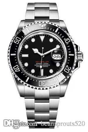 B137 Designer Uhren Sea-Dweller Bewegung Uhren Luxusuhr, Krönchen, 26600,26603 Serie, Keramikring, Edelstahl, Faltschließe